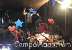 榛名湖オートキャンプ場フリーサイト夕食