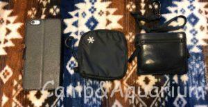 ヤマウォレットとiPhone6と皮の財布の比較