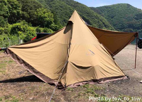 浩庵キャンプ場 湖畔サイト サーカスtc