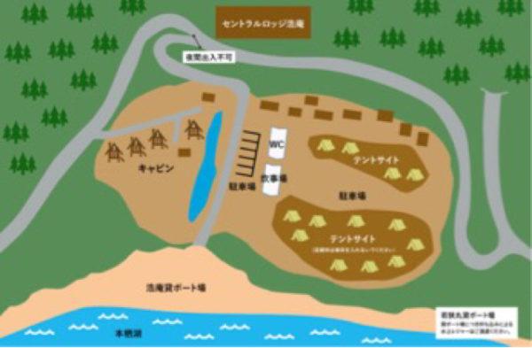 浩庵キャンプ場案内図