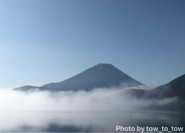 浩庵キャンプ場 本栖湖 富士山