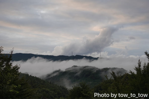 上毛高原キャンプグランドから見える景色