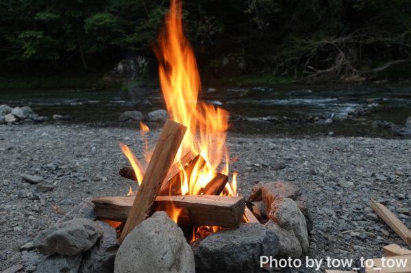 CAZUキャンプ場直火