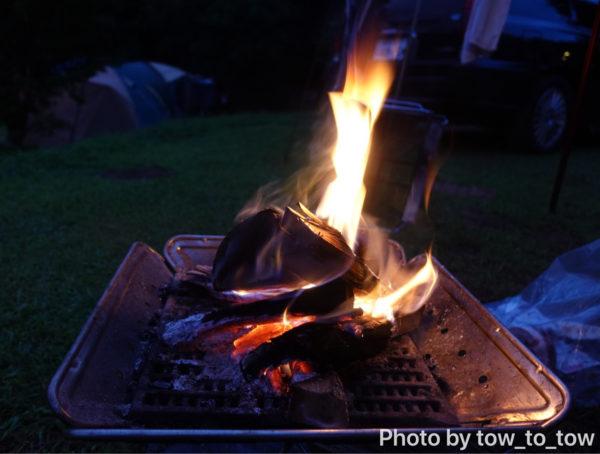 上毛高原キャンプグランド 焚き火