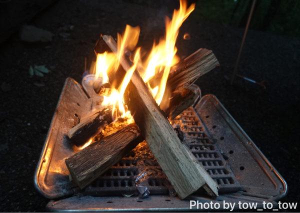 上毛高原キャンプグランド焚き火