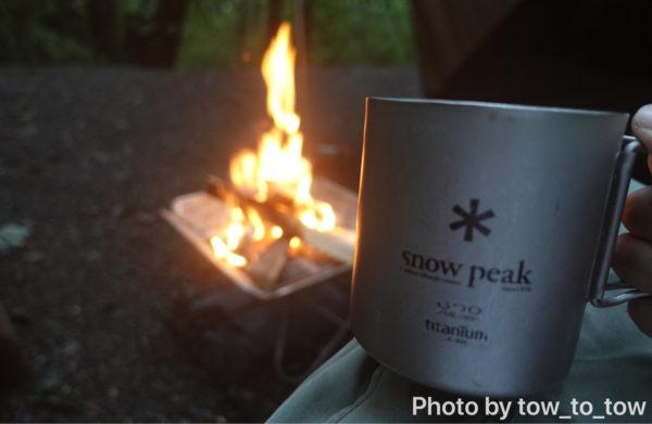 朝の焚き火とコーヒー
