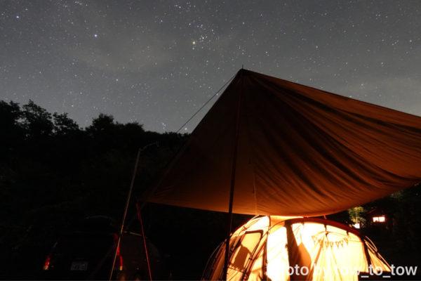 上毛高原キャンプグランド 夜