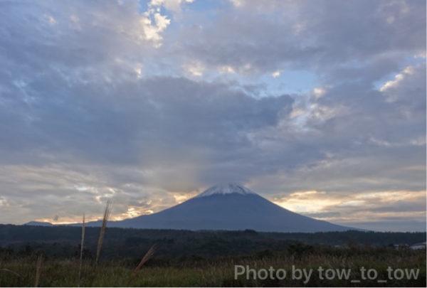 ふもとっぱら道中 富士山