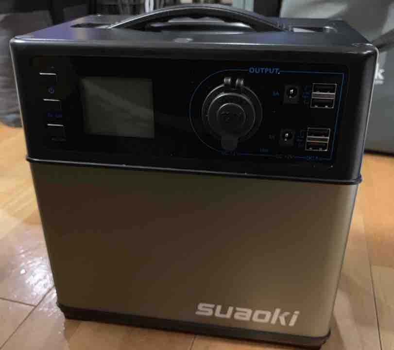 キャンプ用に購入したsuaoki ポータブル電源PS5B 開封レビュー