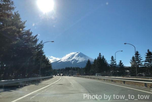 道中の富士山