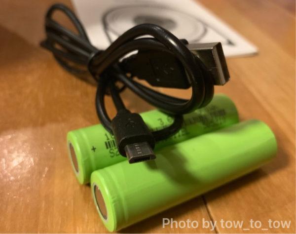 USB扇風機 USBケーブル