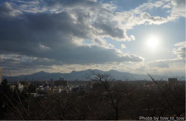 盛岡城本丸からの市内景観