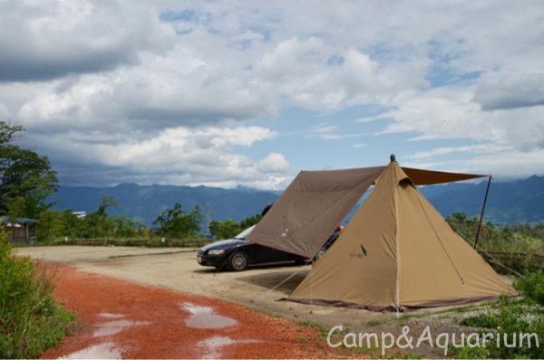 ほったらかしキャンプ場区画サイト5番サーカスTCとスクエアエヴォpro