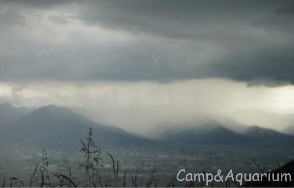 ほったらかしキャンプ場雨