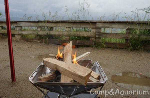 ほったらかしキャンプ場焚き火