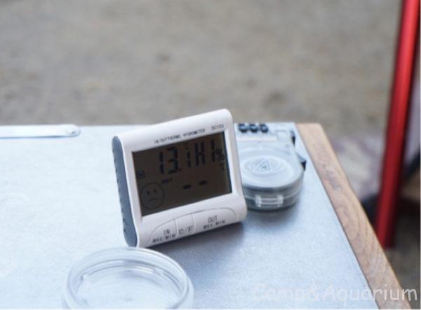 ほったらかしキャンプ場6月中旬朝5時の気温