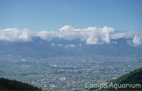 ほったらかしキャンプ場から見える富士山