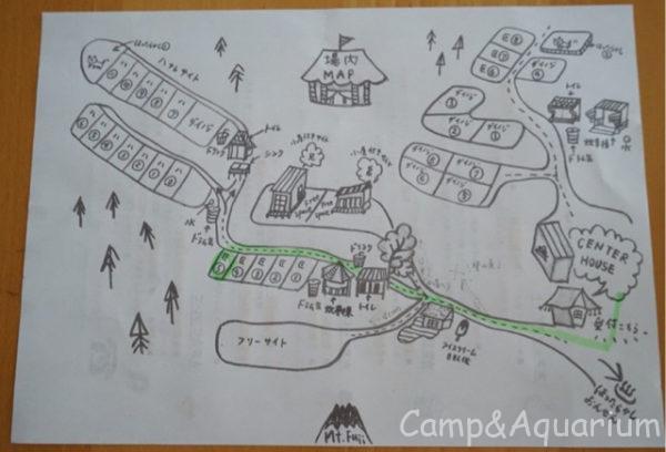 ほったらかしキャンプ場案内図