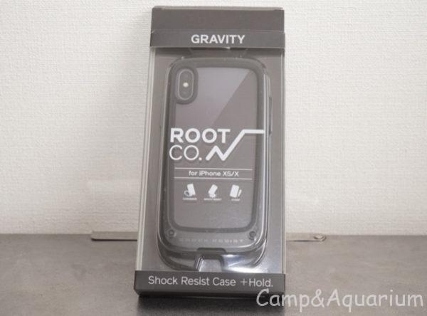 ROOT CO. Gravity Shock Resist Case +Hold.ブラック パッケージ