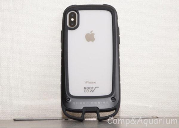 ROOT CO. Gravity Shock Resist Case +Hold.ブラック iPhoneX