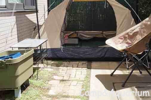 庭でキャンプ DODカンガルーテントS