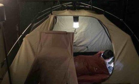 【おうちキャンプ】庭でテント泊編 ぴったりのテントがウチにあった話