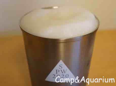 スノーピーク エコカップ ビールを注いだところ