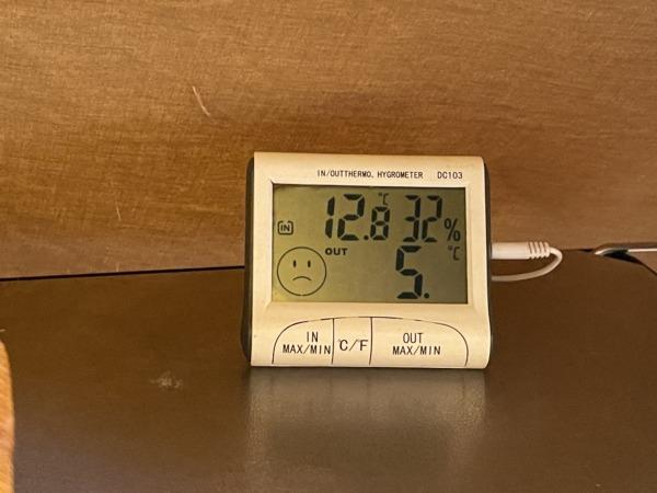 12月ふもとっぱら気温