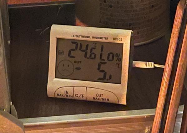12月ふもとっぱら夜気温